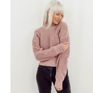 🆕Chunky Knit Crop Sweater